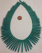 """16""""strand  turquoise gradual spike stick necklace beads /20-40mm  (T728-w3.5)"""