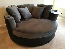 Elite Home Theater Cuddle Couch Seating w Swivel Tray