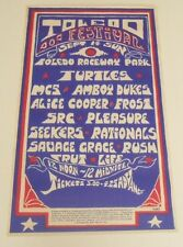 1969 Toledo Pop Festival Poster Print Turtles MC5 Alice Cooper SRC Amboy Dukes