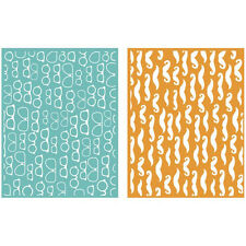 """Quickutz/Lifestyle Crafts EF0036  """"Fellow""""  2 Embossing Folders  NEW"""