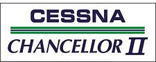 A093 Cessna Chancellor II Airplane banner hangar garage decor Aircraft signs