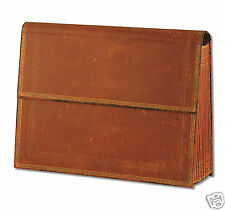 Paperblanks Brown Old Leather Look Storage Box Accordian Style 12 Dividers New