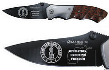 NATIONAL GUARD OPERATION ENDURING FREEDOM  Laser engraved knife  NEW IN BOX