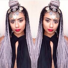 Grey Ombre Jumbo Braid Hair Braids #Catfacehair Boxbraids Dreads Fauxlocs