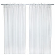 IKEA TERESIA Sheer Curtains,White,1 Pair,300 x145cm,100% Polyester,Brand New