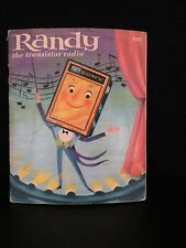 VINTAGE 1963 OLD SONY ANTIQUE OLD RANDY THE TRANSISTOR RADIO CHILDRENS BOOK
