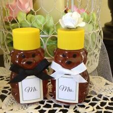 24 Qty Mr & Mrs Honey Bear Wedding Favors Mini Honey Jars