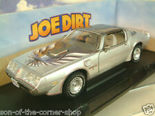 "Greenlight 1/18 1979 Pontiac Firebird Trans Am En Plata ""Joe la suciedad"" película #12952"