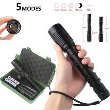 Tactical Flashlight 6000LM CREE T6 LED Torch Camping Bike Light 22cm Metal