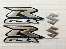 GSX-R Raised 3D Chrome Sticker Set Streak Decal GSXR600 GSXR750 GSXR1000 Bling