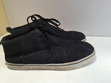 Men Lugz Strider Denim Black Shoes Size 11 USA Good Condition