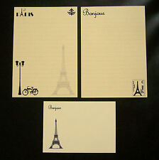 Cute Decorative Paris France Eiffel Tower Letter Writing Paper Stationery Set