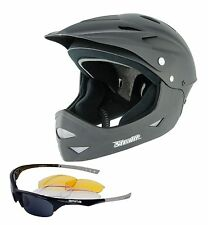 STEALTH FULL FACE BMX/MTB DOWNHILL HELMET MEDIUM + ARINA SHIELD SUNGLASSES