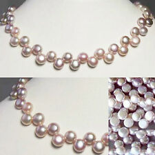 "Top Drilled BUTTON Lavender PINK FW PEARL 8"" STRAND 4761"