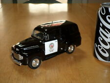 1948 Ford - LOS ANGELES POLICE, Coin Bank, Diecast Metal Toy, Scale 1:25