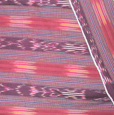 Handwoven Guatemalan Fabric REMNANT 24 in X 10 in Purple Stripe Ethnic tribal
