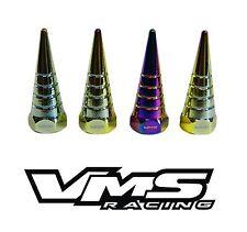 VMS BILLET ALUMINUM NEO CHROME H22 H22A VTEC VALVE COVER SPIRAL SPIKE NUTS 8 PCS
