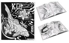 Japanese KOI Tattoo Designs by Horimouja. Outline Stencil. GREAT BOOK