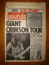 SOUNDS 1972 OCT 28 KING CRIMSON + ROD STEWART POSTER