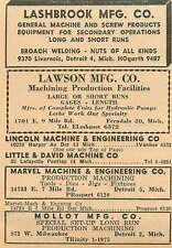 1946 Lawson Mfg Co E 9 Mile Rd Ferndale Lashbrook Livernois Detroit Ad