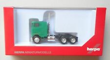 GREEN CABOVER 3 AXLE TRACTOR TRUCK HERPA 1/87 Plastic HO Scale