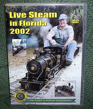 """20009 TRAIN VIDEO DVD """"LIVE STEAM IN FLORIDA 2002"""" 4 LAYOUTS"""