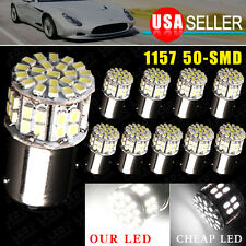 10X BAY15D 1157 Pure White Car Tail Stop Brake Light Super Bright 50SMD LED Bulb