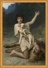 The Shepherd David William ADOLPHE BOUGUEREAU PASTORE AGNELLO giovane B a2 03456
