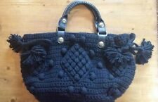 Gerard Darel Dublin black Wool Blend Pom Pom Bag
