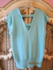 Beldoch Popper 1980s Acrylic Nylon Blue Sweater Sz large