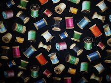 CLEARANCE FQ SEWING THREAD SPOOLS COTTON FABRIC