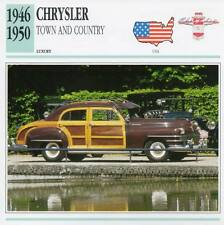 1946-1950 CHRYSLER TOWN AND COUNTRY Classic Car Photograph/Information Maxi Card