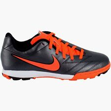 Nike Turf Soccer Sneakers JR T90 Shoot Black/ Total Crimson  Boys Size 1