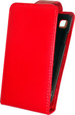 SHELL COVER WALLET RED PU LEATHER CASE FOR SAMSUNG 19000 19001 GALAXY S1