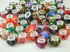 50pcs mix DIY bead lampwork fit European Charm Bracelet Wholesale beads m5