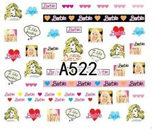 Nail Art Decals Transfers Stickers Barbie (A-522)