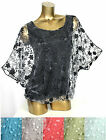 36 38 40 SPITZEN BALLON LAGENLOOK TUNIKA SHIRT HEMD TOP BLUSE TUNIC FLEDERMAUS