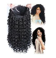 Curly Front Lace Wigs Long Black Heat Resistant Synthetic Hair Glueless Full Wig