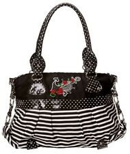 Anchor ROSE Sailor Nautical Handbag by Banned Shoulder Polka Dot White Stripe