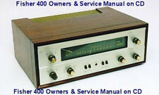 FISHER 400 STEREO OWNERS & SERVICE MANUAL ON CD IN A HARD CASE SAME DAY SHIPPING