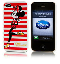 Disney Store Skinny Minnie Mouse Iphone 4/4S Red Clip Case & Screen Guard COVER