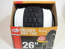 "Bell 7064286 26in Glide White Wall Bicycle Tire Kevlar, Black 26"" Inch 1.75-2.25"
