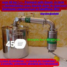 45litres Alambic thermomètre distillateur d'eau alcool vin whiskyAlambique pompe