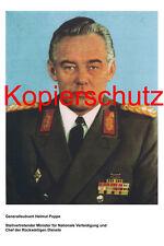 Generalleutnant Helmut Poppe NVA LaSK DDR Foto 20x30 cm