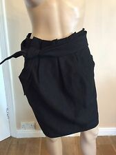 PHILIP LIM 3.1 New Bnwts Black Tie Skirt Paper bag Tulip Size uk 6 Waist Tie