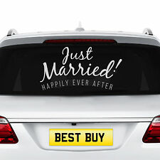 NEW Just Married Wedding Car Removable Decal Vehicle Sticker Window Banner Decor