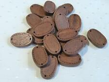 PACK OF 20 DARK WOODEN OVAL CONNECTORS - 17x10x3mm............F833 *