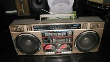 RARE  GOLD CONION TC-555 BOOMBOX WITH DUAL CASSETTE PLAYER RECORDER AM/FM 10 BAN