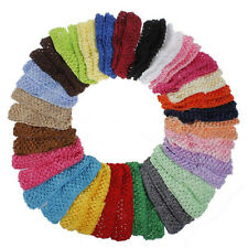 25 Colors  Bulk Baby Girls Toddler Crochet Hair Head Band Hairband NEW