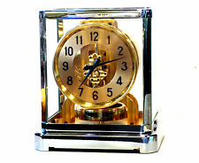 GORGEOUS 1930s JAEGER LECOULTRE*ATMOS II RHODIUM*MANTLE CLOCK #13,000 SERV WORKS